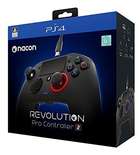 NAPCON Revolution Pro Controller 2 Offizielles Lizenzprodukt Black Controller für Sony PlayStation 4