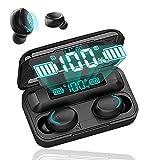 Auriculares Bluetooth 5.0 inalámbricos con Bluetooth, 150 Horas de Hora, CVC 8.0, Auriculares inalámbricos Deportivos con Pantalla LED y Control táctil, IPX7 Impermeable, Funda de Carga