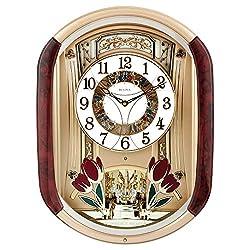 Bulova Fantastic Strike & Chime Wall Clock, Gold