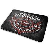 Custom made Harley Davidson - Felpudo de bienvenida para todas las estaciones para interiores y exteriores, fácil de limpiar, 60 x 40 cm