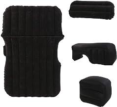 camping Colchón de Aire para Acampar, AirBed para Carpa Senderismo para Acampar Tienda de campaña y Saco de Dormir Incluye Bomba de Aire Recargable (Color : Negro)