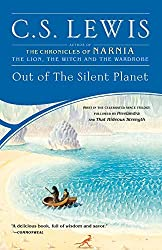 Paperback edition of Out of the Silent Planet - color illustration of Malacandra