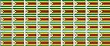 Mini Aufkleber Set - Pack glatt - 20x12mm - Sticker - Simbabwe - Flagge - Banner - Standarte fürs Auto, Büro, zu Hause & die Schule - 54 Stück