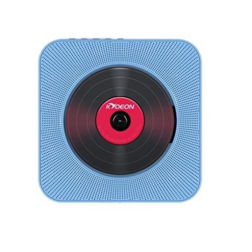 babysbreath17 Montage Mural Bluetooth Lecteur CD Chaîne HiFi sans Fil Interrupteur à Tirette Haut-Parleur Soundbox Kit de contrôle à Distance Bleu 18.8 * 3.2cm