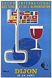Dijon Wein Poster, Poster, Format 50 x 70 cm, Papier, 300