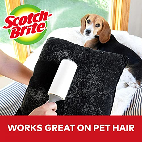 Scotch-Brite Lint Roller Value Pack, Works Great On Pet Hair, 5 Rollers, 95 Sheets Per Roller, 475 Sheets Total