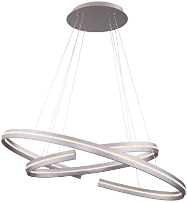 WAC Lighting PD-48932-SN DweLED Orbit 32in LED Pendant 3000K in Satin Nickel Light Fixture, 32 Inches