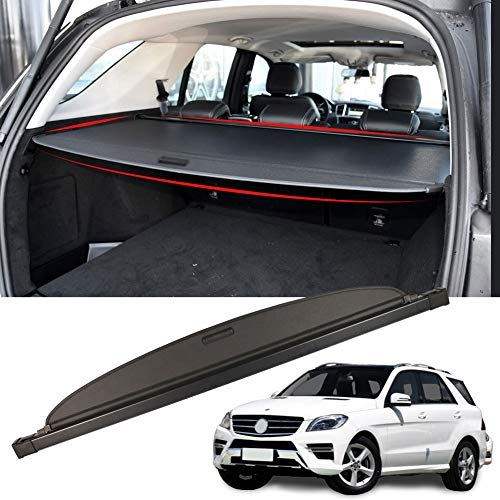Marretoo Cargo Cover Factory Style for Benz ML Accessories 2012-2015 GLE 2016-2019 Black Retractable Trunk Security Shield Shade