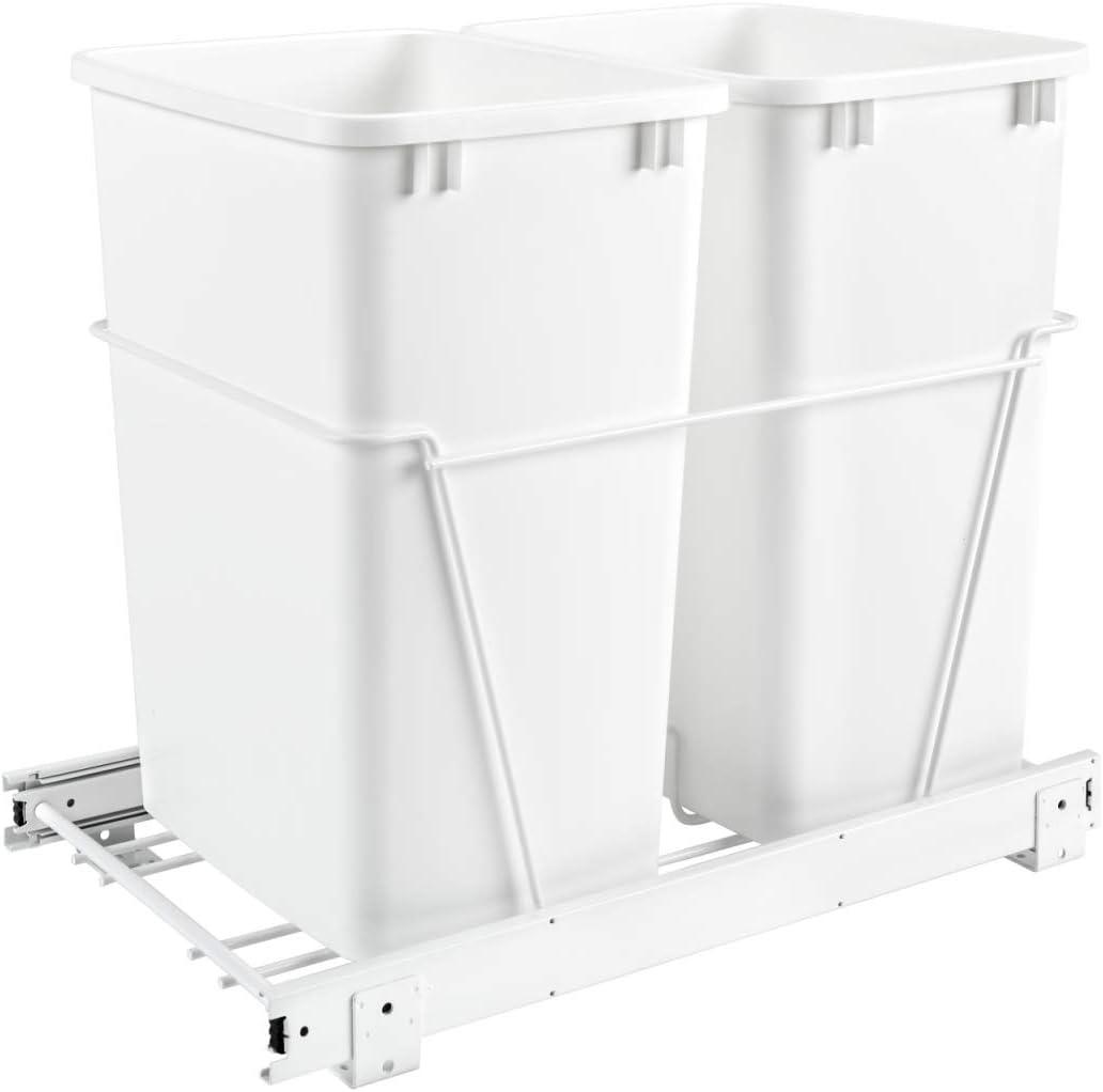Rev-A-Shelf Max 77% Max 74% OFF OFF RV-18PB-2 S Double 35-Quart Pull Out Sliding Kitchen