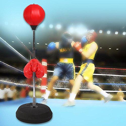 Bolsa de Boxeo de Pie, Pelota de Boxeo con Guantes de Boxeo...