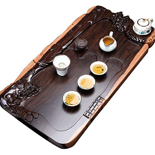 Learn More About Solid Wood Tea Tray Home Kung Fu Tea Set Office Wooden Tea Table Hand-carved,Meanin...
