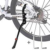 Pata de Cabra Bicicleta,DIAOCARE Aleación Ajustable Lateral de Bicicleta con pie de Goma para 24'' - 29''Antideslizante Caballete Lateral Caballete para Montaña Bicicleta,Carretera Bicicleta