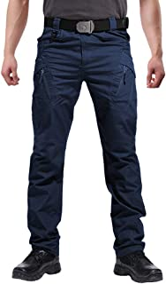 FEDTOSING Men's Outdoor Cargo Work Trousers Military Tactical Pants Combat Ripstop Trousers