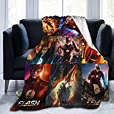 Lightweight Blanket with Justice League Pattern Throw for The Bed Quilt Ultra-Soft Micro Fleece Blankets for Kids Adults Durable Comfortable King Size Super Soft Warm Blanket