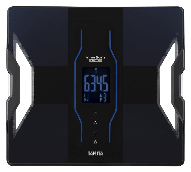ラウンジ買い手アレルギータニタ 体組成計 スマホ 50g 日本製 ブラック RD-907 BK 医療分野の技術搭載/スマホでデータ管理 インナースキャンデュアル