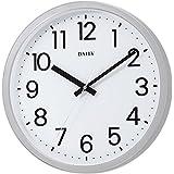リズム時計工業(Rhythm) 掛け時計 フラットフェイスDN DAILY シルバー ф33.1×4.3cm 4KGA06DN19
