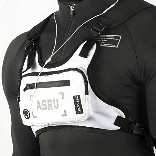 YEVHEV Brusttasche mit Reflexstreifen auf der Rückseite Leichte Mehrfunktional Bequme Lauftasche für Laufen Ausgehen Wandern usw