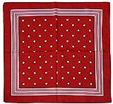 Harrys-Collection Unisex Bandana Bindetuch 100% Baumwolle (1 er 6 er oder 12 er Pack), Farbe:Punkte rot