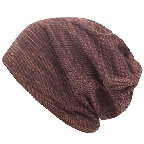 LINSID SOMBRERO-Sombrero Hombres y Mujeres otoño e Invierno sección Delgada Gorras con Capucha Gorras Gorras de algodón Gorras de Dormir Gorro de Pelo