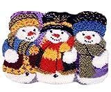 7 Modell Weihnachten Knüpfteppich Formteppich für Kinder und Erwachsene zum Selber Knüpfen Teppich Latch Hook Kit child Rug Christmas047 52