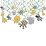 Konsait Tier Party deko Hängedekoration Folie Spiral Girlanden für Kinderparty Junge und Mädchen...