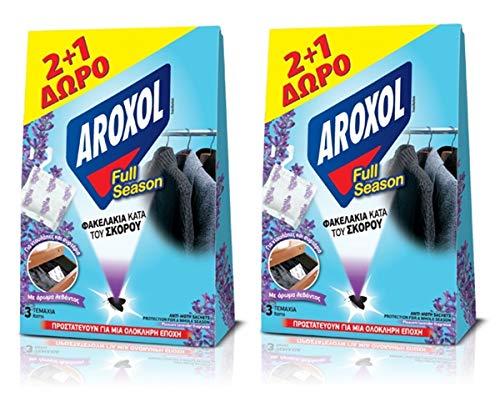 2 x Anti-Moth tablettes/Sachet Packs agréable Parfum de Lavande pour vêtements Tissu 2 + 1 Gratuit – Durer jusqu'à 6 Mois
