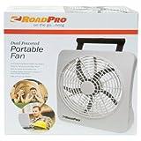"RoadPro RP73002 10"" 12V or Battery Dual Power Portable Fan"