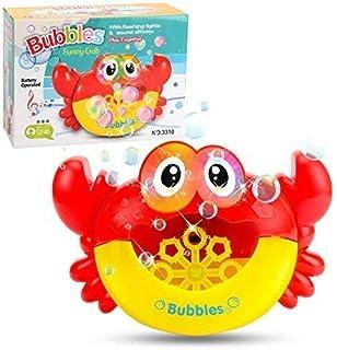 ICDOT Kids Bubble Machine for Bath,Funny Cute Crab Bubble Blower Maker Machine Bathtub Shower Bath Toy with Music Sound fo...