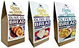 Rabbit Creek Olive Oil Bread Mix Variety Pack of 3 – Herb & Cheese, Garlic & Cheese, and Cheese & Bacon...