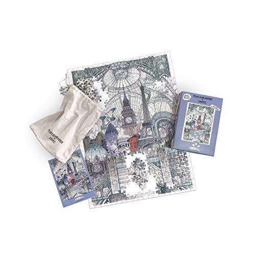 Rompecabezas Print Club  x   Paris Bruselas, 500 Piezas, Rompecabezas para Adultos, Rompecabezas Cityscapes, edición de Artista, Rompecabezas Lucille Clerc