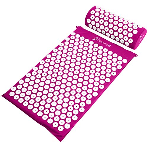 Wellness Gifts For Women - Acupressure Mat and Pillow Set for Back/Neck Pain Relief and Muscle Relaxation