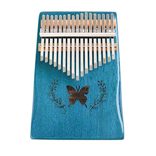 Kalimba, Daumenklavier 17 Keys Kalimba Schmetterling Mahagoni Daumen Finger Klavier Musikinstrument mit Tuning Hammer Aufkleber Fingerschutz for Anfänger (Color : 17 Keys)