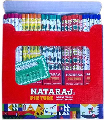 Nataraj Pencils - Jumbo Pack of 100 Writing Bonded Lead Pencils (HB)