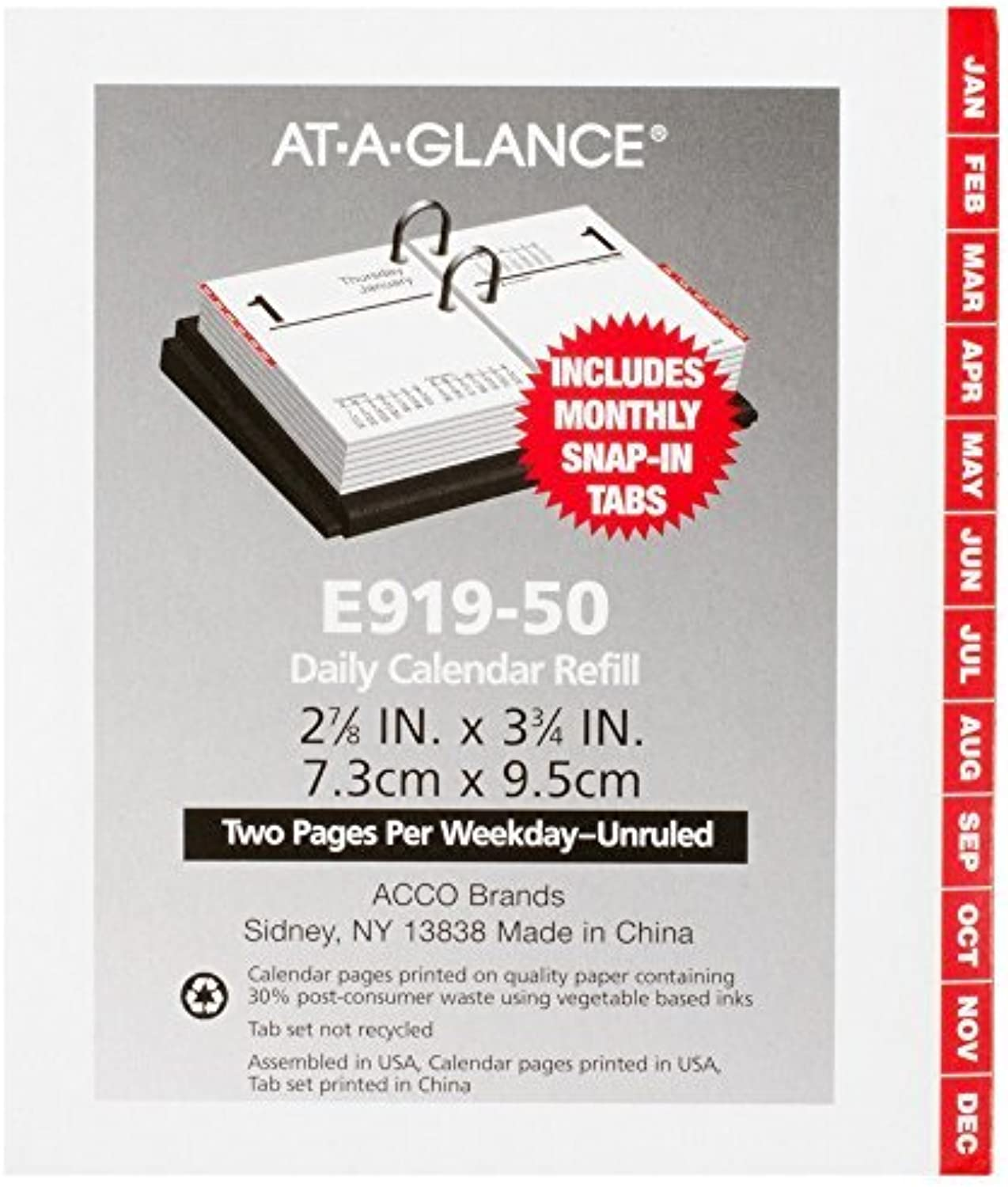 AT-A-GLANCE Daily Desk Calendar 2016 Refill, Refill, Refill, Compact, 12 Months, 3 x 3.75 Inch Page Größe (E91950) by At-A-Glance B0141MO68Y | Exquisite Handwerkskunst  295055