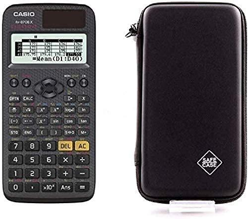 Casio FX-87DE X + Schutztasche kompatibel mit Casio