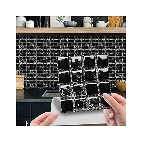 SZBLYY Pegatinas baldosas 10 unid 3D Pegatinas de azulejo de Cristal 3D DIY Etiquetas engomadas Autoadhesivas a Prueba de Agua Decoración del hogar Decoración de la Cocina Sala de Estar Aseo