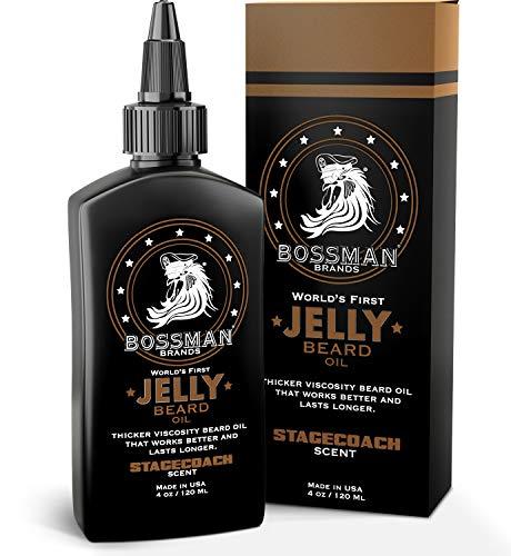 Bossman Beard Oil Jelly (4oz) - Beard Growth...