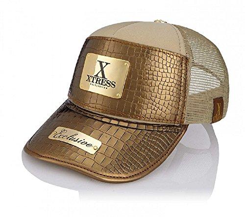 Xtress Exclusive Gorra dorada de diseño para hombre y mujer.