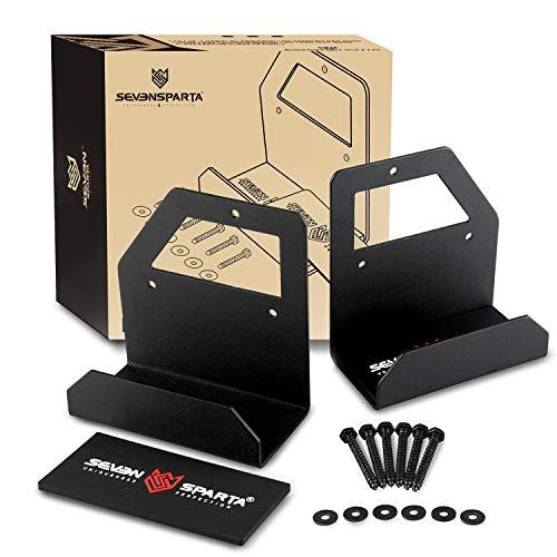 Seven Sparta Vehicle Door Storage Hanger Rack with Scratch-Resistant Rubber Pad Jeep Door Holder Bracket Fits for Jeep Wrangler JL JK TJ YJ (Matte Black)