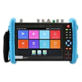 Wsdcam 7 Inch All in One IPS Touch Screen IP Camera Tester Security CCTV Tester Monitor with SDI/TVI/AHD/CVI/TDR/OPM/VFL/POE/WIFI/4K H.265/1080p HDMI in&Out/Firmware Upgraded 9800MOVTSADH-Plus