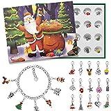 Advent Calendar 2020 Christmas Countdown Calendar - Christmas Themed DIY Charm Bracelet Ma...