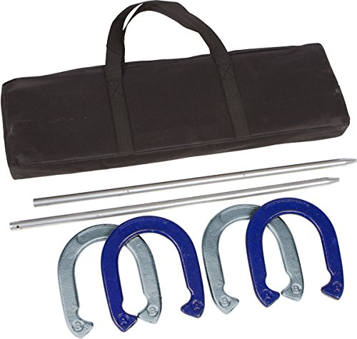 Pro Horseshoe Set - Powder Coated Steel with Carry Case by Trademark Innovations