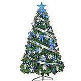 Árbol de Navidad, árbol Artificial de ramificación automática, árbol Completo de Navidad con Soporte de Metal para Sala de Estar, decoración navideña Interior y Exterior (tamaño: 180 cm), práctico