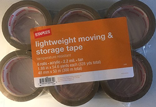 Lightweight moving and storage tape 6 rolls 2.2 mil 1.88
