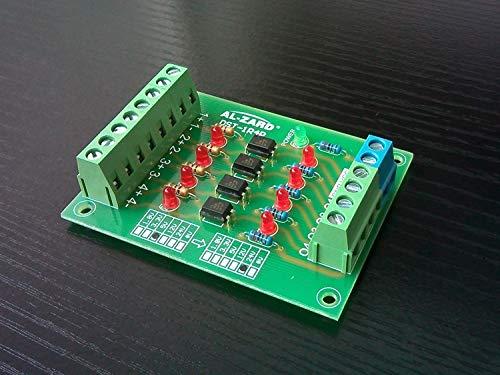 CROSYO Tablero de conversión de Voltaje de Nivel de señal del PLC del optoacoplador de 4 vías Tablero de conversión de Voltaje 1.8V 24V 3.3V 5 V 12V 4 (Color : 1.8V to 1.8V)