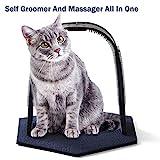 OneBarleycorn – Arche de massage pour chat avec brosse grattante et planche à griffer,Parfait pour Jouer et gratter Aide à prévenir Les Boules de Cheveux et à contrôler la Perte de Poils