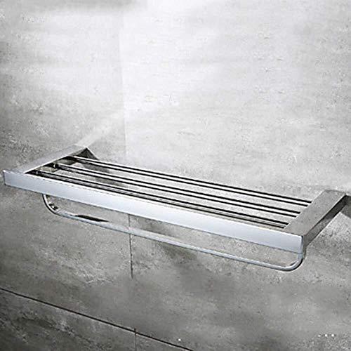 OLDJTK Toallero Toallero Hecha de Acero Inoxidable Toalla 1 Pieza de Carril con Doble Pared de Montaje Accesorios de baño