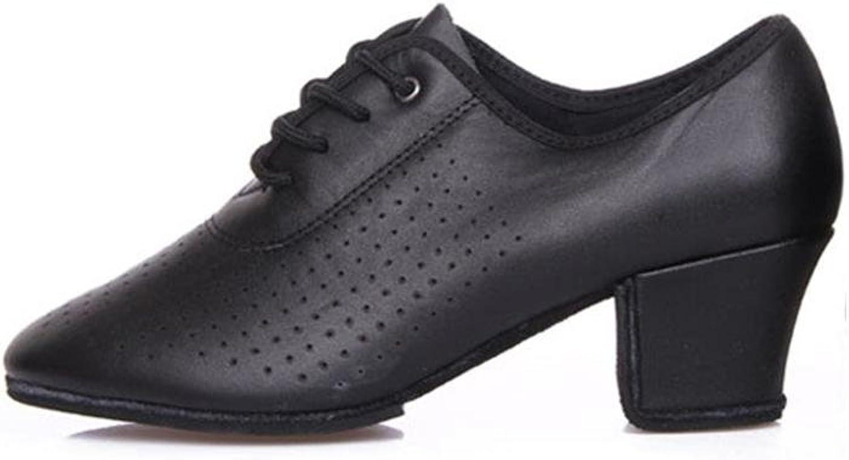 QPYC Frauen Leder Latin Dance Schuhe Mid Ferse Weichen Boden Tanzschuhe Leder Tanzschuhe , schwarz , 39  | Deutschland Online Shop  | Verpackungsvielfalt  | Exquisite Handwerkskunst