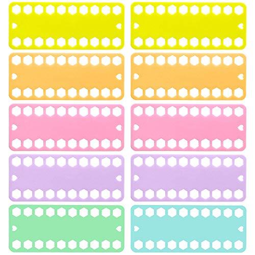 DELSEN 10 Piezas Organizador Punto de Cruz Tarjeta Organizador de Hilo Seda del Bordado de Punto de Cruz Porta Hilo para La Costura Knitting