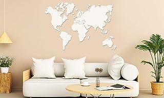 Mapamundi decorativo para pared en MDF BLANCO ó MDF NEGRO de diferentes tamaños • 100x60cm | 160x100cm | 200x120 cm Mapas ...